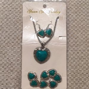 Jewelry - Turquoise necklace earrings and bracelets